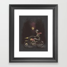 Death Rides in the Night Framed Art Print