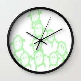 fluffy minion family Wall Clock