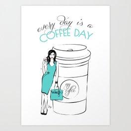 Coffee Quote  Art Print