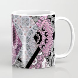The national pattern in the patchwork . Purple Coffee Mug