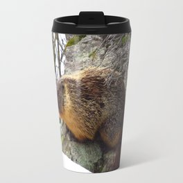 Winter Marmot Travel Mug