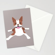 red boston terrier Stationery Cards