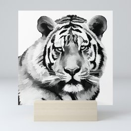 Tiger Black and white Mini Art Print