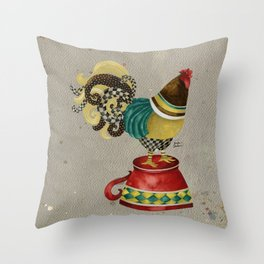 Rooster Willow Throw Pillow