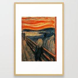 The Scream by Edvard Munch Framed Art Print