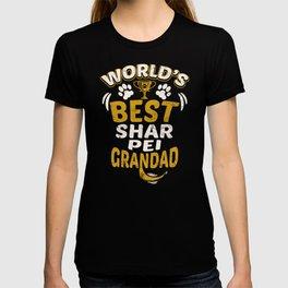 World's Best Shar Pei Grandad T-shirt