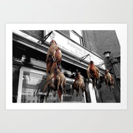Butchers Art Print