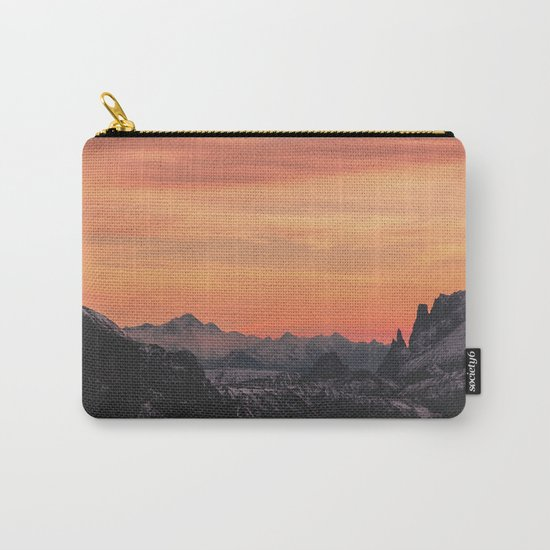 Pastel Sunset #mountains #society6 Carry-All Pouch