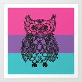 Ava's Owl Art Print