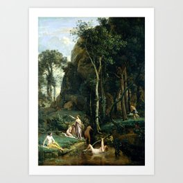 Camille Corot Diana and Actaeon Art Print