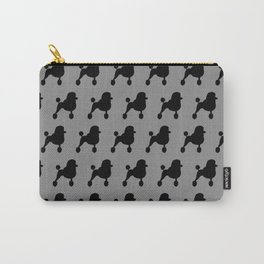 Black Fancy Standard Poodle Silhouette Carry-All Pouch