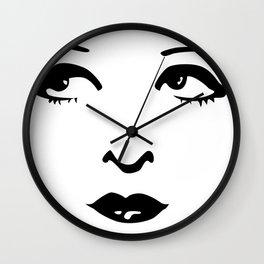 Silent Stars - Clara Bow Wall Clock