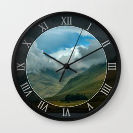 Cloudy afternoon in Connamara Wall Clock
