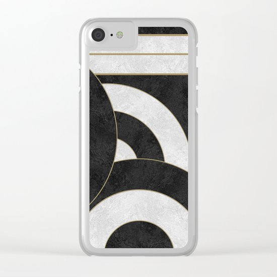 Geometric Marble 01 Clear iPhone Case