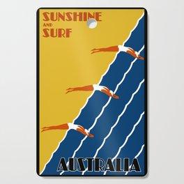Vintage Australia Travel - Swimmers Cutting Board