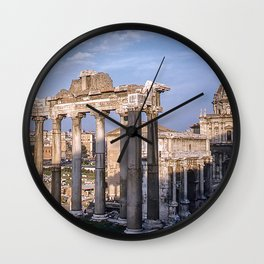 Roman Ruins - Vintage photography Wall Clock