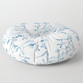 Wild and Free - Teal and Cream Floor Pillow