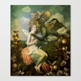 """The body, the soul and the garden of love"" Canvas Print"