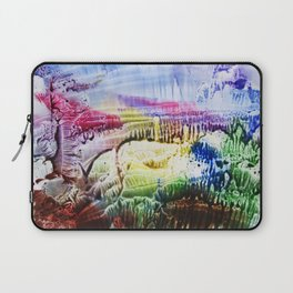 abstract composition of red and blue colours . artwork Laptop Sleeve