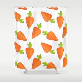 carrot pattern Shower Curtain