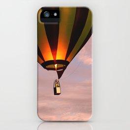 Hot air balloon rising iPhone Case
