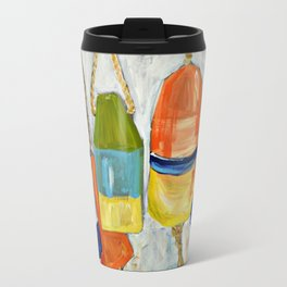 Lobster Buoys Travel Mug