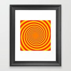 Yellow into Red via Orange Spiral Framed Art Print