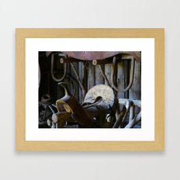 Rustic Saddle Framed Art Print