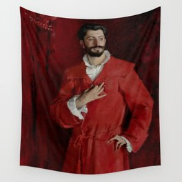 """John Singer Sargent """"Dr. Pozzi at Home"""" Wall Tapestry"""