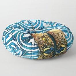 Art Beneath Our Feet - Mexico City Floor Pillow