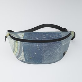 Vintage Celestial Star Map with Planetary Orbits (1858) Fanny Pack