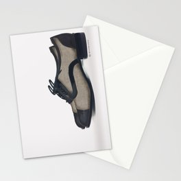 Leather bluchers Stationery Cards