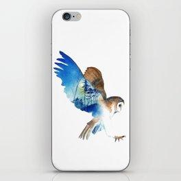 Flying night cute owl iPhone Skin