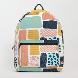 Abstract doodle shapes pattern Backpack