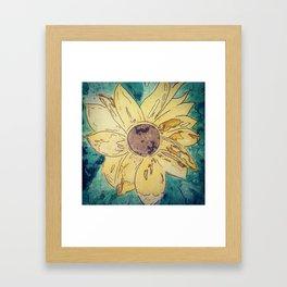Sunflower madness Framed Art Print