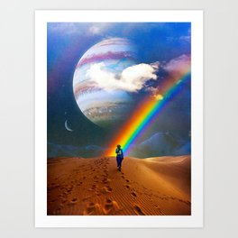 The Desert Path Art Print