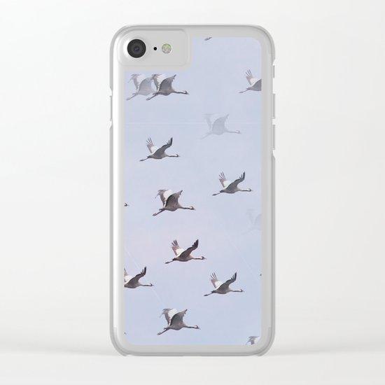 Cranes in Flight II Clear iPhone Case