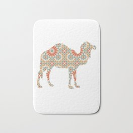 CAMEL SILHOUETTE WITH PATTERN Bath Mat