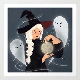 Moon Thief Witch Art Print