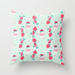Strawberry poison milk 2 Throw Pillow