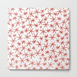 simple red stars Metal Print
