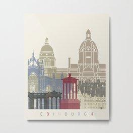 Edinburgh skyline poster Metal Print