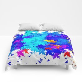 Leaves blobs Comforters