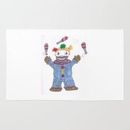 Creepy Twisty Clown Rug