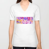 lavender V-neck T-shirts featuring Lavender by Lizzy Koury