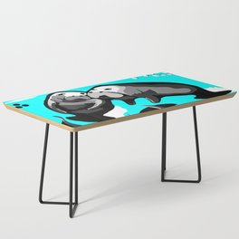 Manatee Love in blue Coffee Table
