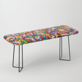 Rainbow Sprinkles Sweet Candy Colorful Bench