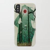 murakami iPhone & iPod Cases featuring Nature Goddess by Yago Murakami
