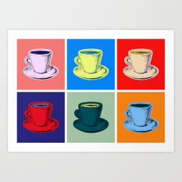 Coffee Mugs Pop Art Style Art Print