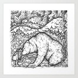 John Bauer Bear Art Print